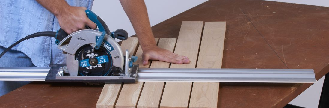 circular saw guide rail system