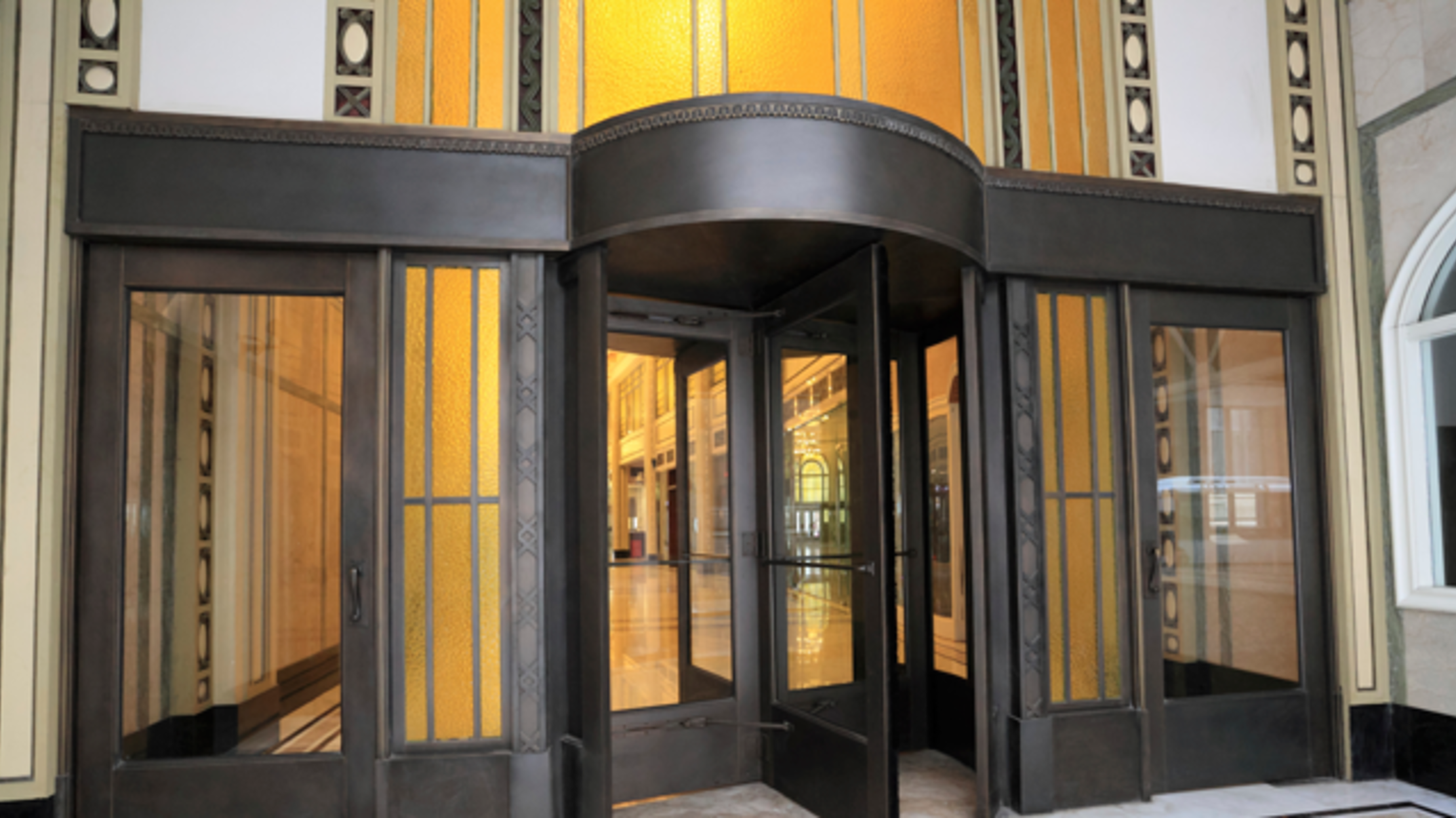 crane revolving doors New York